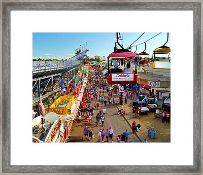 Wisconsin State Fair Milwaukee Wi Framed Print by Carol Toepke