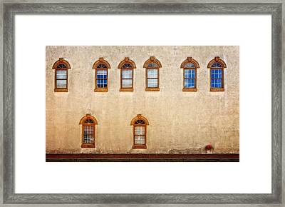 Office Windows Overlooking Side Street Framed Print