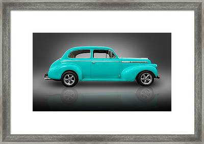 1940 Chevrolet Special Deluxe Sedan Framed Print by Frank J Benz