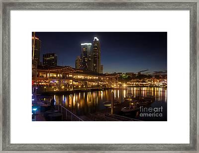 Miami's Bayside Market Place Framed Print