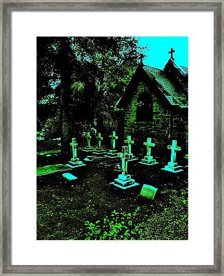 11 Crosses Framed Print
