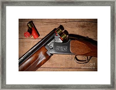 12 Gauge Over And Under Shotgun Framed Print by Jt PhotoDesign