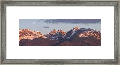 14er Panorama 3 Framed Print by Aaron Spong
