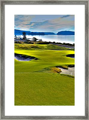 #17 At Chambers Bay Golf Course - Location Of The 2015 U.s. Open Championship Framed Print