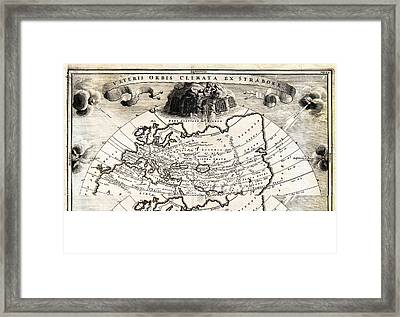 1700 Cellarius Map Of Asia Europe And Africa According To Strabo Geographicus Orbisclimata Cellarius Framed Print