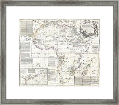 1794 Boulton And Anville Wall Map Of Africa Framed Print by Paul Fearn