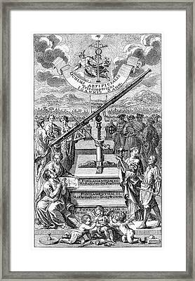 17th Century Astronomers Framed Print by Cci Archives