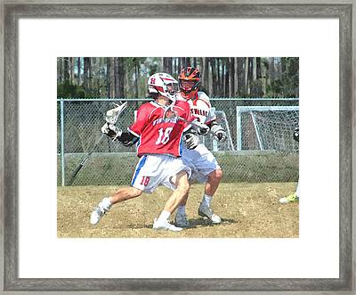 18 Push Framed Print by Barry Spears