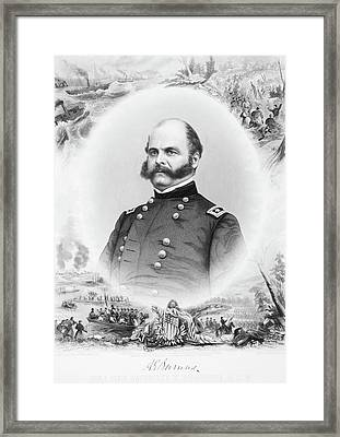1800s 1860s Portrait Major General Framed Print