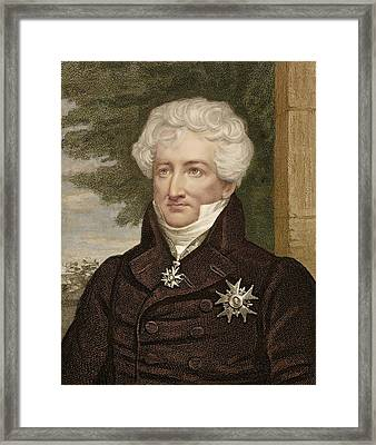 1830 Baron Georges Cuvier Palaeontologist Framed Print