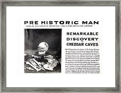 1903 Skeleton Cheddar Man Gough's Cave Framed Print