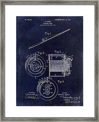 1906 Fishing Reel Patent Framed Print by Jon Neidert
