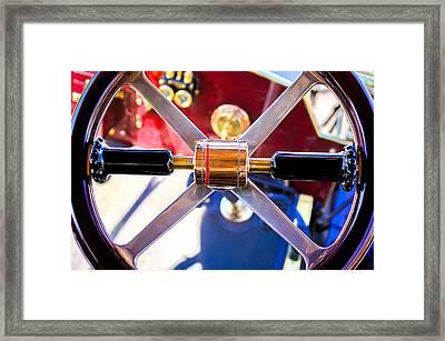 1907 Panhard Et Levassor Demi Toneau 38 Hp Steering Wheel Framed Print by Jill Reger