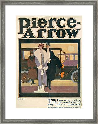 1910s Usa Pierce-arrow Magazine Advert Framed Print by The Advertising Archives