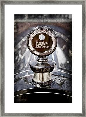 1911 Cadillac Roadster Hood Ornament - Moto Meter Framed Print by Jill Reger