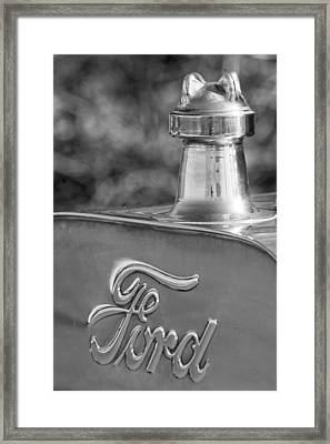 1911 Ford Model T Torpedo 4 Cylinder 25 Hp Hood Ornament  Emblem Framed Print