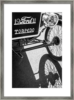 1911 Ford Model T Torpedo Grille Emblem Framed Print by Jill Reger