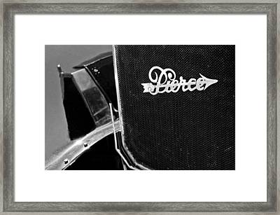 1916 Pierce-arrow 48 Phaeton Grille Emblem Framed Print by Jill Reger