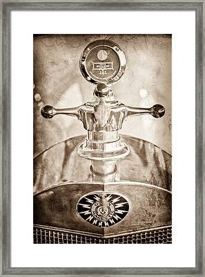 1917 Owen Magnetic M-25 Hood Ornament - Moto Meter Framed Print