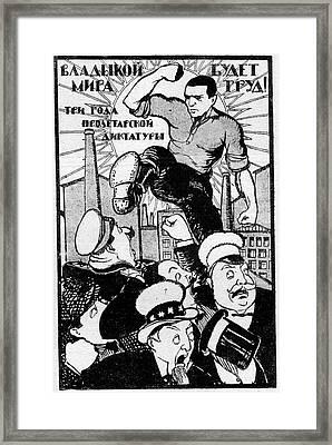 1920s Soviet Propaganda Poster Framed Print