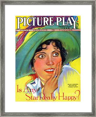 1920s Usa Picture Play Magazine Cover Framed Print by The Advertising Archives