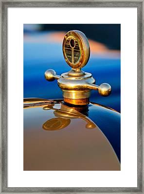 1922 Studebaker Touring Hood Ornament 3 Framed Print by Jill Reger