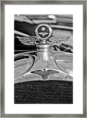 1923 Duesenberg Model A Touring Hood Ornament Framed Print
