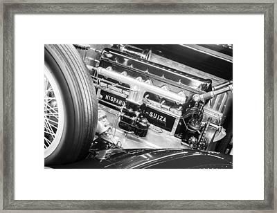 1924 Hispano-suiza H6b Dual  Cowl Sport Phaeton Engine Emblem Framed Print