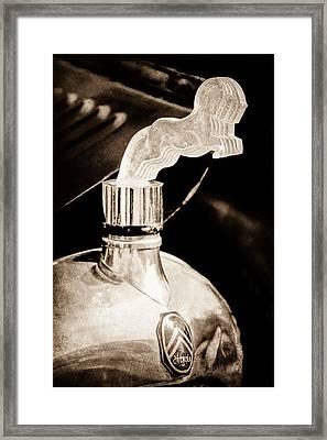 1925 Citroen Cloverleaf Hood Ornament Framed Print