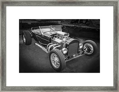1925 Ford Model T Hot Rod Bw Framed Print by Rich Franco