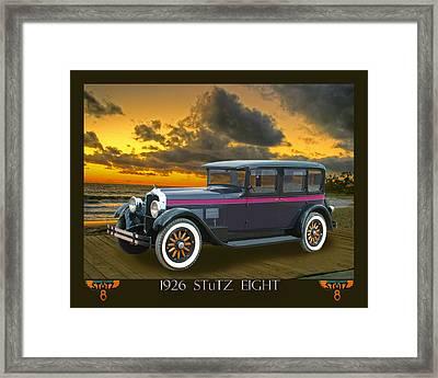 1926 Stutz Eight Sedan Framed Print by Jack Pumphrey