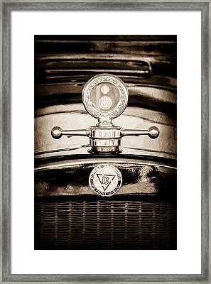 1928 Dodge Brothers Hood Ornament - Moto Meter Framed Print