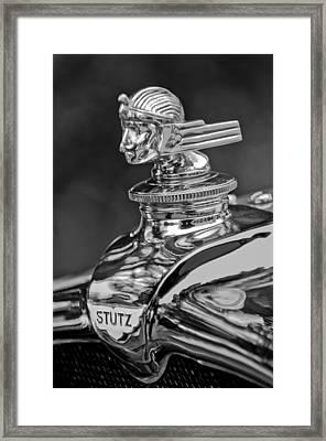 1928 Stutz Bb Robbins Speedster Hood Ornament Framed Print by Jill Reger