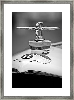 1929 Bentley Speed Six Gurney Nutting Fixed Head Coupe Hood Ornament Framed Print by Jill Reger