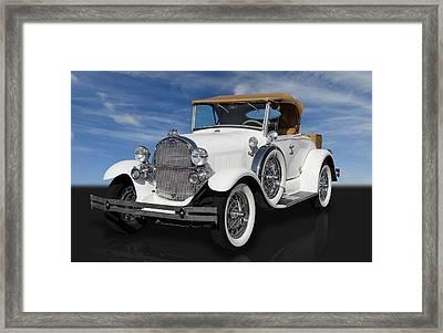 1929 Ford Model A Framed Print by Frank J Benz