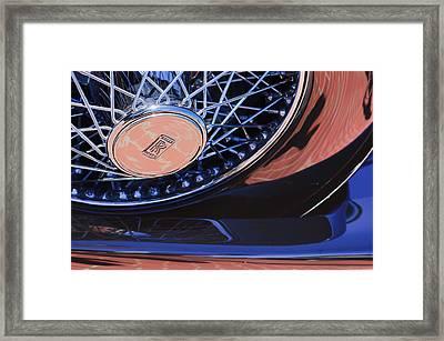 1929 Rolls-royce Phantom I Ascot Phaeton Spare Tire Emblem Framed Print by Jill Reger