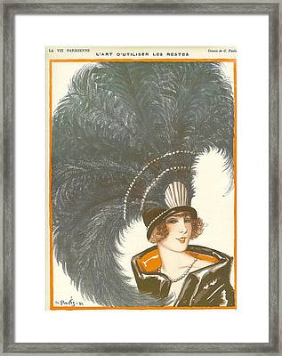 1930s France La Vie Parisienne Magazine Framed Print by The Advertising Archives