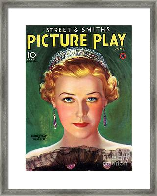 1930s Usa Picture Play Magazine Cover Framed Print by The Advertising Archives