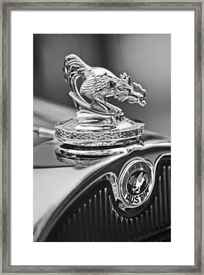 1931 American Austin Roadster Hood Ornament Framed Print by Jill Reger