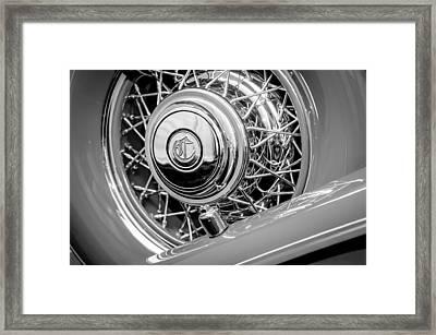 1931 Chrysler Cg Imperial Dual Cowl Phaeton Spare Tire Emblem Framed Print
