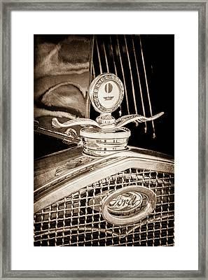 1931 Model A Ford Deluxe Roadster Hood Ornament Framed Print