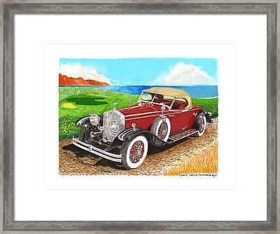 Rolls Royce Henley Roadster Framed Print by Jack Pumphrey