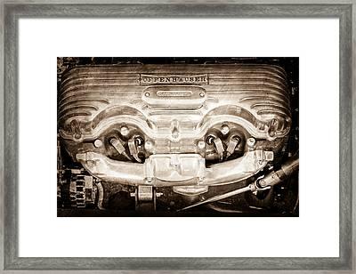 1932 Ford 409 Engine Framed Print