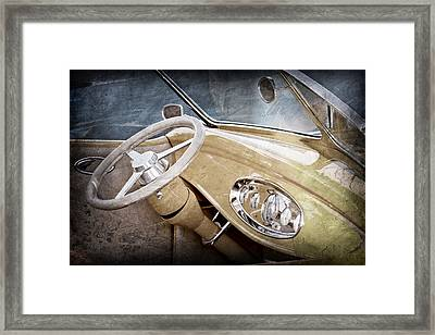 1932 Ford Roadster Steering Wheel Framed Print by Jill Reger