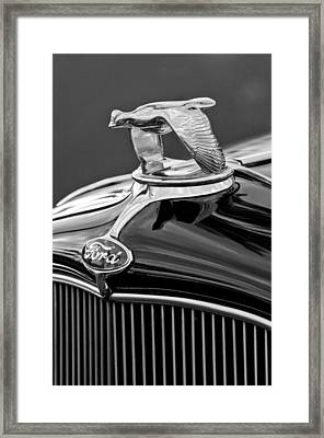 1932 Ford V8 Hood Ornament Framed Print by Jill Reger