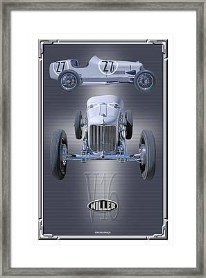 1932 Miller V16 Framed Print by Ed Dooley