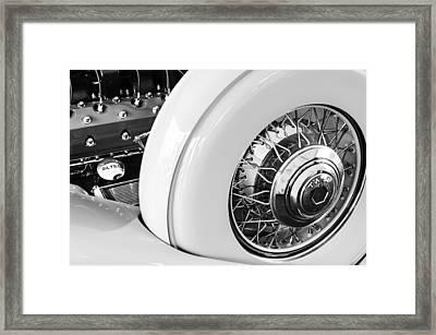 1932 Packard Dual Cowl Phaeton Engine - Spare Tire Framed Print