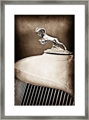 1933 Dodge Ram Hood Ornament - Grille Framed Print by Jill Reger