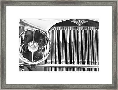1933 Hispano-suiza J12 Vanvooren Coupe Grille Emblem Framed Print by Jill Reger