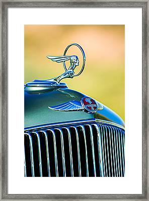 1933 Pontiac Hood Ornament - Emblem Framed Print by Jill Reger